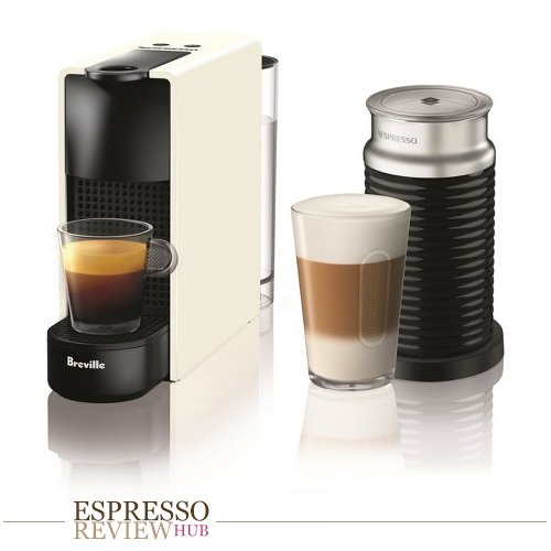 Nespresso Essenza Mini Original Espresso Machine Bundle with Aeroccino Milk Frother by Breville