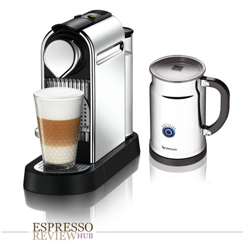 Nespresso Citiz C111 Espresso Maker with Aeroccino Plus Milk Frother